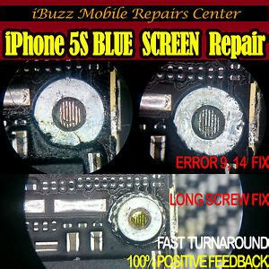 iphone 5s blue screen itunes error 9 14 wrong u6 ic repair service ebay