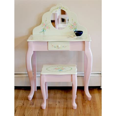 teamson design bouquet children s vanity table and stool