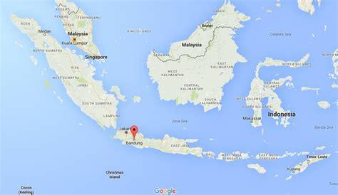 bandung  map indonesia