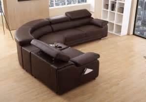 dakota modern stylist brown leather corner sofa left