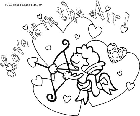 coloring page of st valentine valentine s day color page coloring pages for kids