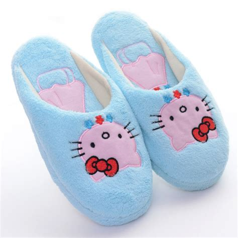 hello slippers soft plush slippers blue hello carpet home shoes at