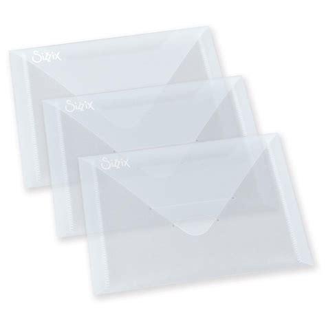 plastic envelope template papiria sizzix plastic envelopes