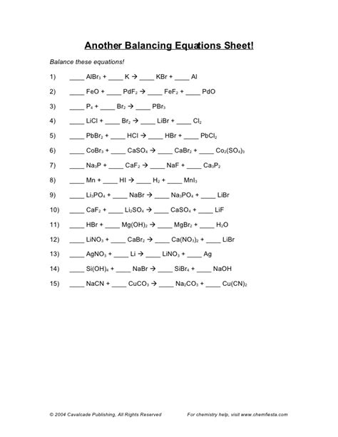 balancing equations worksheet driverlayer search engine