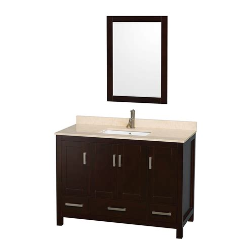Transitional Bathroom Vanity Sheffield 48 Inch Transitional Espresso Bathroom Vanity Set By Wyndham Collection