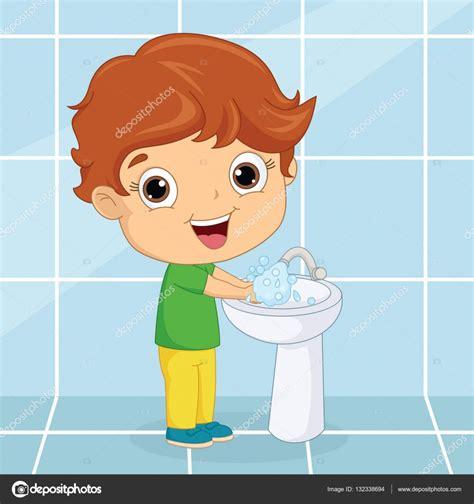 Imagenes Niños Lavandose Las Manos | vector ilustraci 243 n de un ni 241 o lav 225 ndose las manos vector