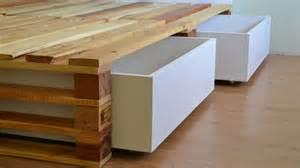 Queen Bed With Storage Underneath Estrado Para Cama Com Gavetas Em Mdf Palletsclub
