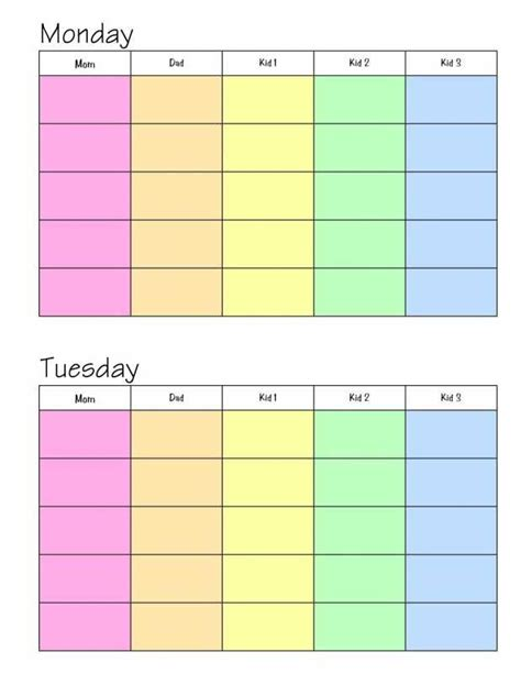 weekly family planner template day planner printable weekly planner for a family