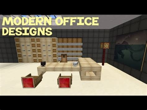 Cool Bedroom Ideas For Guys minecraft modern office designs youtube