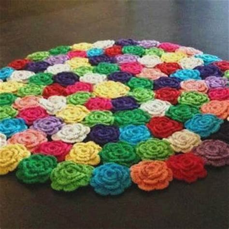 flower rugs crochet flower rug from beylikduzuorguevi on etsy