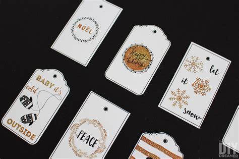 wishing   white christmas printable gift tags black  gold