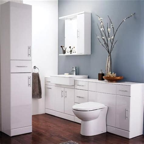 alaska high gloss white 7 piece vanity unit bathroom suite