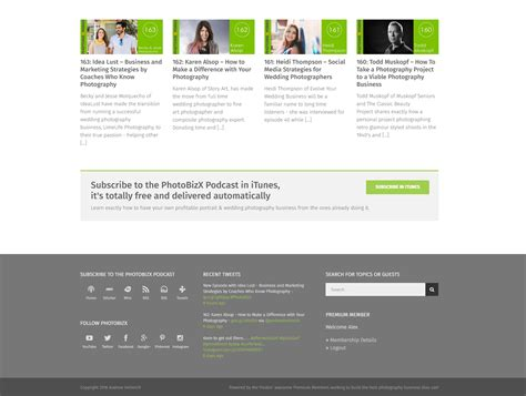 layout footer newsletter case study photobizx website design makeover fgweb