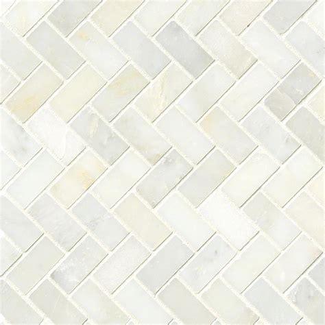 greecian white herringbone pattern polished marble tile