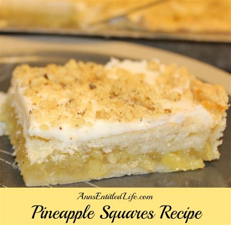 Square Pineapple Dafanya 2 pineapple squares recipe
