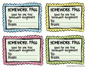 free no homework and late homework passes tpt