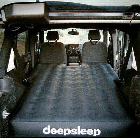 air mattress shaped for sleeping and cing in jeep wrangler 4 door jku jeep stuff jeep