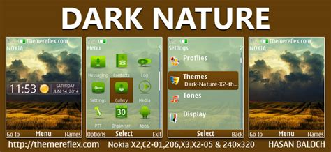 nokia c2 nature themes dark nature theme themereflex