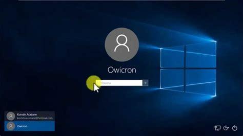 imagenes inicio sesion windows 10 iniciar windows 10 sin contrase 241 a youtube