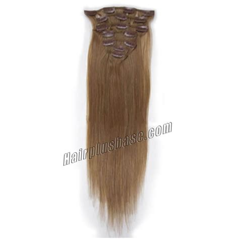 30 inch human hair extensions 30 inch 12 golden brown clip in remy human hair