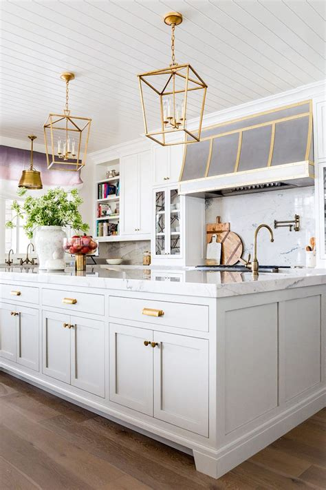 white cabinets with gold hardware kitchen details paint hardware floor kitchens