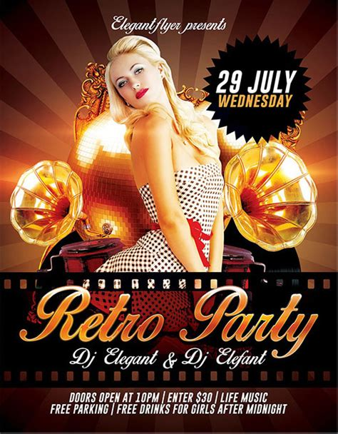 30 Free Psd Themed Party Flyer Templates Free Psd Templates Celebration Flyer Template Free