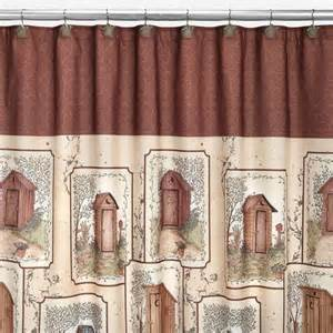 Shopko Shower Curtains Saturday Knight Outhouses Fabric Shower Curtain Multi Shopko