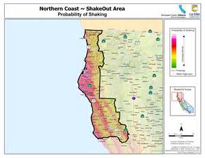 map of n california coast the great california shakeout coast area