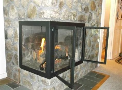 Gas Fireplace Doors by Custom Fireplace Doors Corner Set With Gas Logs By Iron It Out