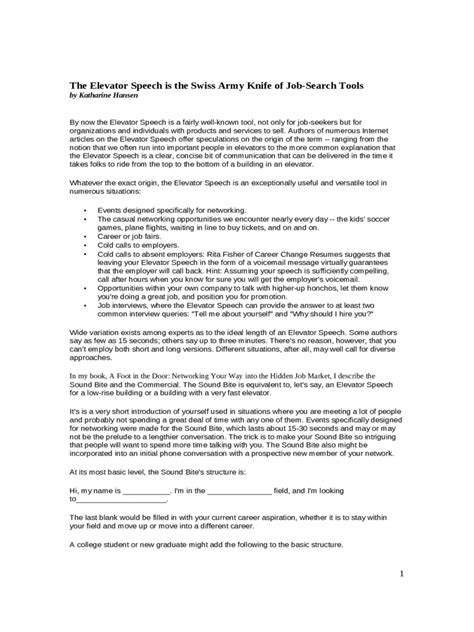 Elevator Pitch Examples   4 Free Templates in PDF, Word