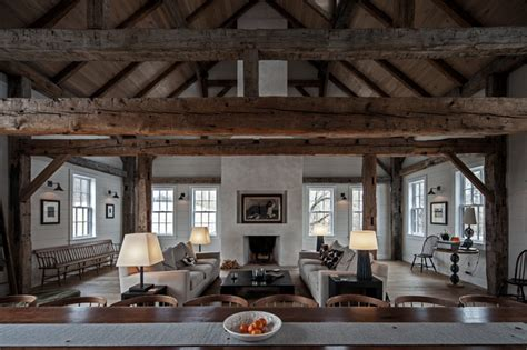 johns bedroom barn vintage barn frame addition to dutch stone house contemporary living room boston