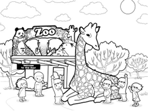 zoo coloring pages coloring pages to print