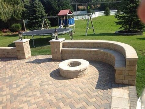 unilock pit unilock hollandstone patio w unilock pisa2 seat walls