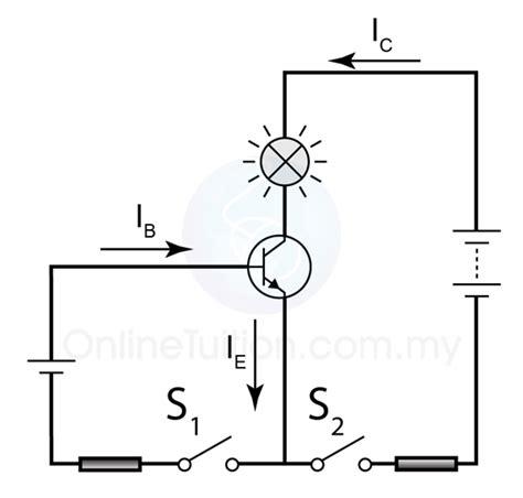 transistor npn formule current in transistor spm physics form 4 form 5 revision notes