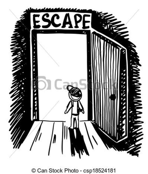 doodle escape free vector of black and white doodle sketch ink drawing of