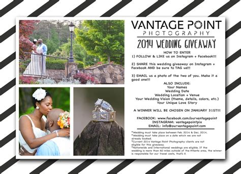 Wedding Sweepstakes 2014 - 2014 wedding photography giveaway vantage point photography our blog vantage