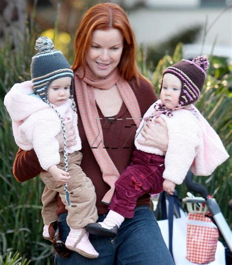 Adorable Photos Of Marcia Cross And At The Park by Marcia Cross And In Adorable Matching Bamboo