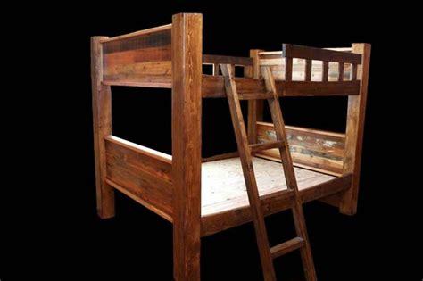 rustic loft bed rustic bunkbeds