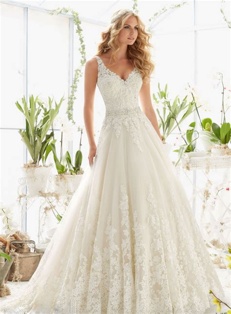 dressilyme stunning wedding dresses applique and