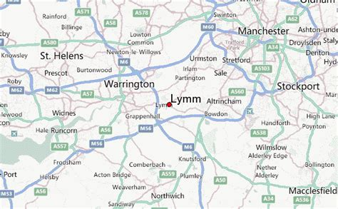 map of warrington lymm location guide