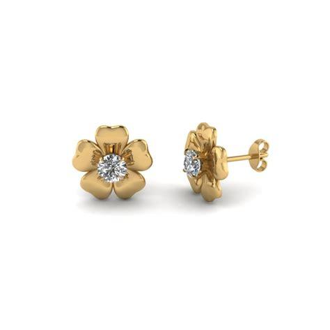 In Stud Earrings womens gold stud earrings amazing deal on rivka friedman