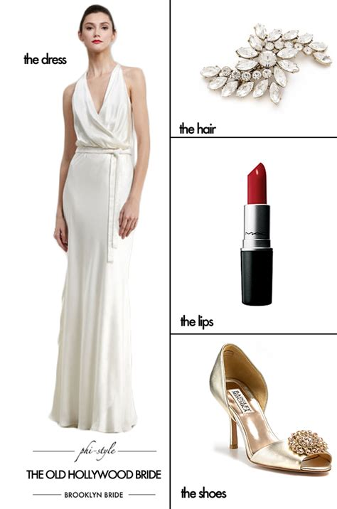 Phi Style: The Old Hollywood Bride   Brooklyn Bride