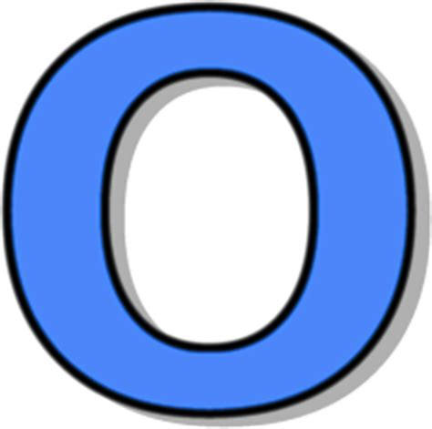 how to o capitol o blue signs symbol alphabets numbers outlined