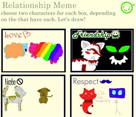 Relationship Meme Pictures - relationship meme by chibichiiruby on deviantart