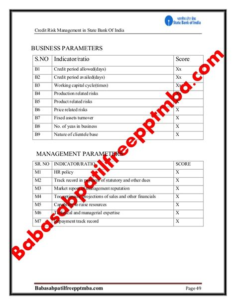 Foreign Exchange Risk Management Mba Project by A Project Report On Credit Risk Sbi Project Report Mba