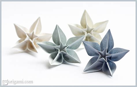 Single Sheet Origami - carambola flowers origami flowers by sprung go