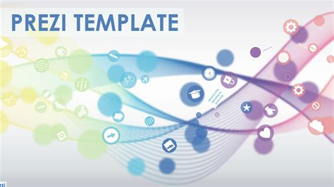 Colorful Prezi Template With Circles And A 3d Background Effect Create A Smooth And Flowing Prezi Template Ideas