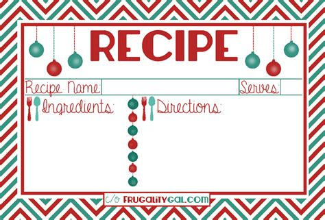 printable recipe cards holiday free printable meal cards christmas search results