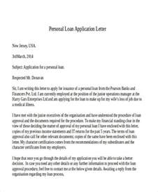 Personal Loan Application Letter To Company Sle 43 Application Letter Template Free Premium Templates