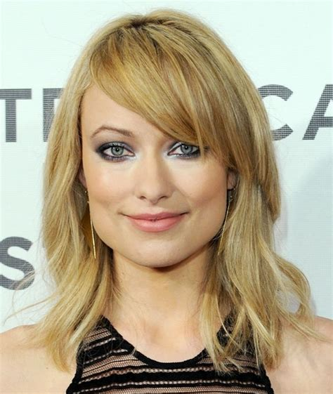 to medium hairstyles with layers around the olivia wilde hairstyles medium layered haircut with bangs